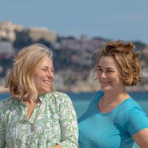 Rivieran inom räckhåll författarbild Maria Unde Westerberg och Kristina Svensson
