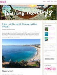 Blogginlägg Resia Rivieran på liten budget