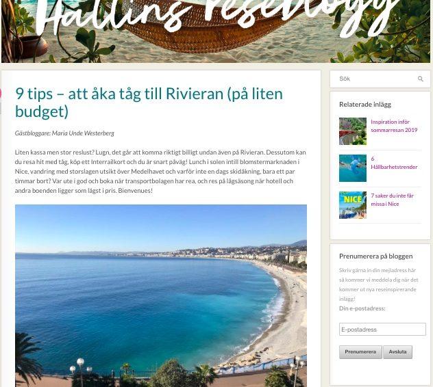 På Hallins reseblogg: 9 tips att åka tåg till Rivieran (på liten budget)
