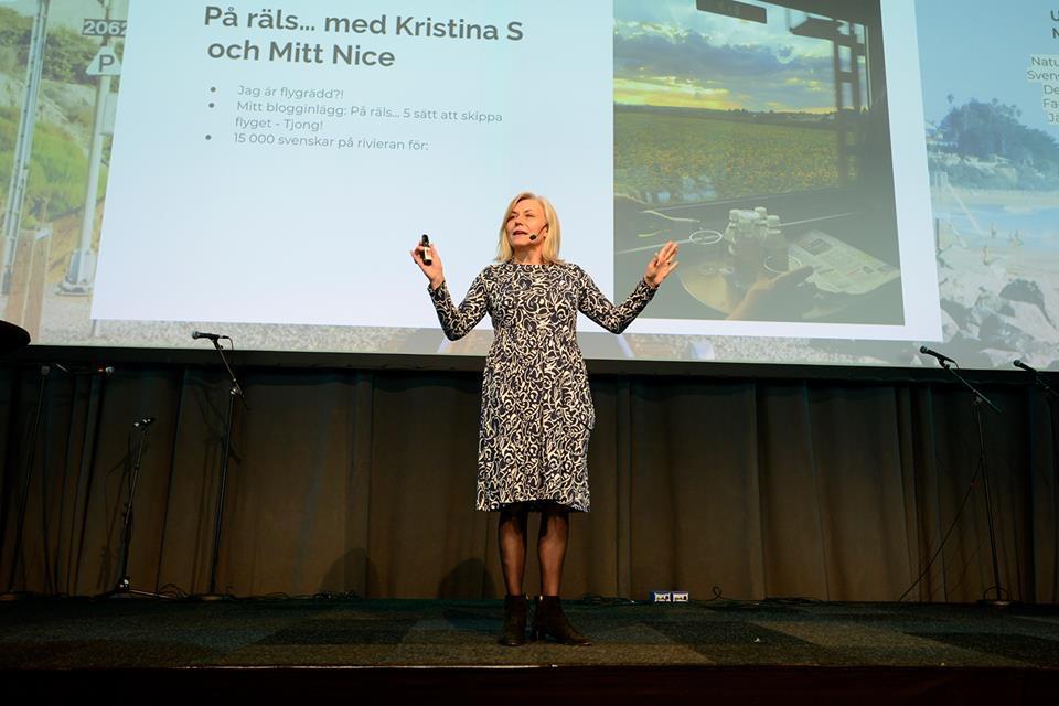 Maria Unde Westerberg talare på Tågsemesterträffen