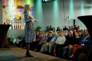 Maria berättar om Rivieran på Tågsemesterträffen 2019