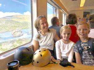 Familjen Katzenellenbogen-Ahlén på tur Maria Unde Westerberg