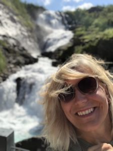 Kjosfossen Flåmsbanan Selfie Maria Unde Westerberg