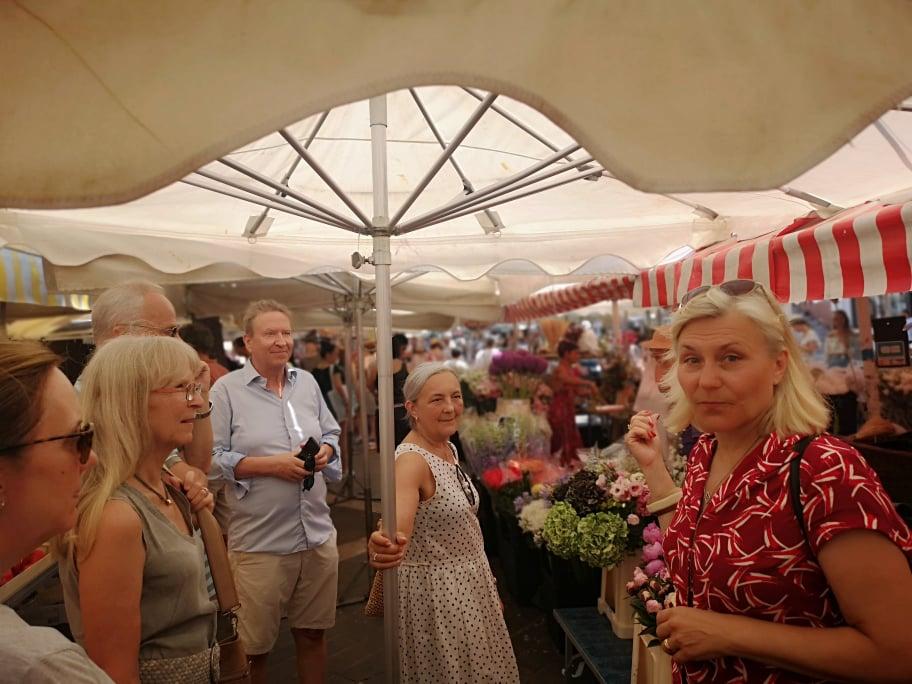 Stadsvandring i Nice på blomstermarknaden Maria Unde Westerberg