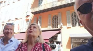 Stadsvandring i Nice vid Eglise St Francois de Paule Maria Unde Westerberg
