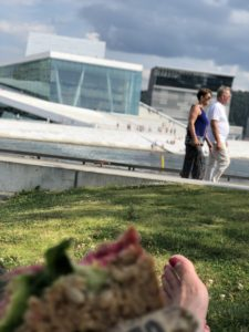 Barfota på gräsmattan i Oslo Maria Unde Westerberg