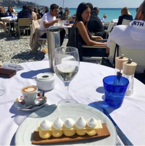 Lunchdessert på Le Galet i Nice Foto: Maria Unde Westerberg