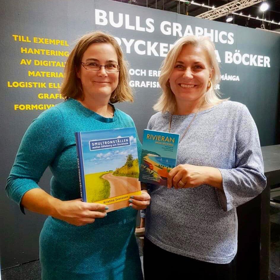 Maria Unde Westerberg och Kristina Svensson hos Bulls Graphics på Bokmässan 2019