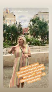 Maria Unde Westerberg håller stadsvandring på sin gata i Nice