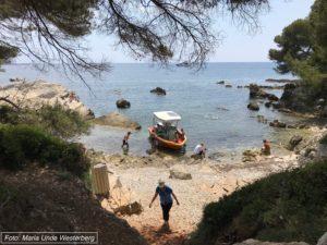 Glassbåten på Ile Sainte Marguerite foto Maria Unde Westerberg