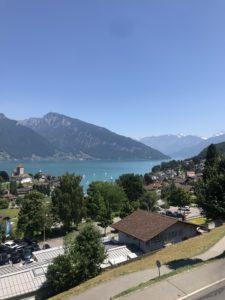 Spiez utsikt över Thuner See foto: Maria Unde Westerberg