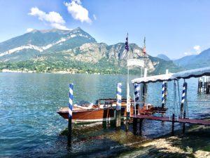 Fin båt i Bellagio foto Maria Unde Westerberg