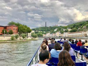 På flodtur i Lyon foto Maria Unde Westerberg