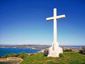 Kors vid Mont Clair i Sète