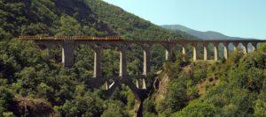 Le Train Jaune en viaduc du Sejournée