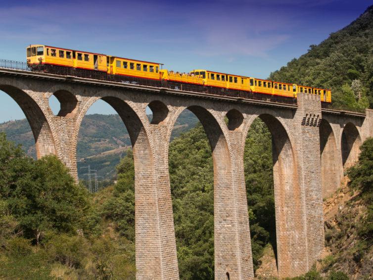 Le Train Jaune – gula tåget i Pyrenéerna