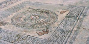 Den nyupptäckta mosaiken i Uzès