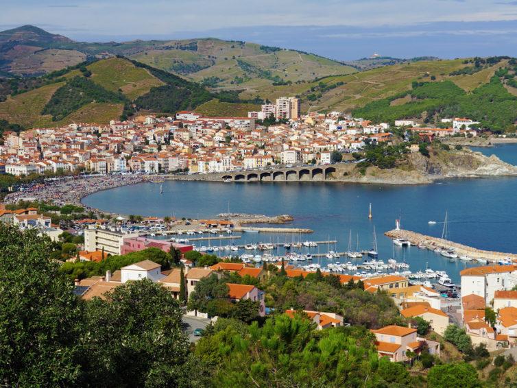 Banyuls-sur-mer, där Pyrenéerna doppar tårna i Medelhavet