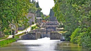 Sluss vid Canal du Midi