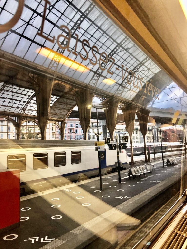 Gare de Nice i coronatiden foto Maria Unde Westerberg