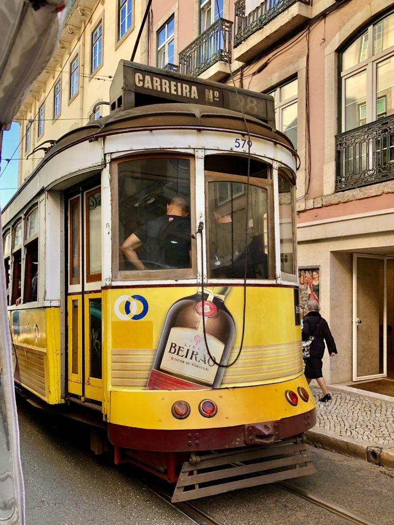 Spårvagn i Lissabon foto Maria Unde Westerberg